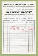 "NOGENT-EN-BASSIGNY  (52) : "" MATERIAUX De CONSTRUCTION - MARTINOT-HABERT ""  1941 - France"