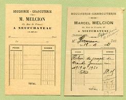 """NEUFCHATEAU  (88) : """" BOUCHERIE Marcel MELCION """"  1921 - France"""