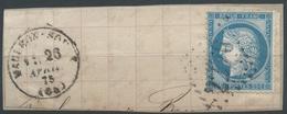 Lot N°47441  N°60/fragment, Oblit GC 2276 Mauléon-Soule, Basses-Pyrénées (64), Ind 4 - 1871-1875 Cérès