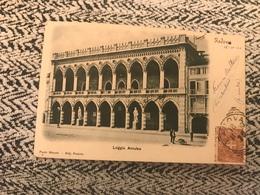 1900 Cartolina Viaggiata Animata Padova Loggia Amulea - Treviso