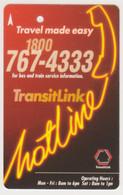 Singapore Subway Bus Ticket Farecard Used 'Hotline' - Metro