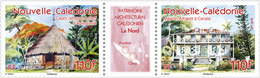 Nieuw-Caledonië / New Caledonia - Postfris / MNH - Complete Set Architectuur 2018 - Nieuw-Caledonië