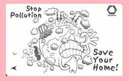 Singapore Subway Bus Ticket Farecard 'Stop Pollution' Used - Subway