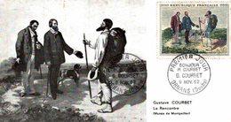 GUSTAVE COURBET-TIMBRE 1962LA RENCONTRE -ENVELOPPE 1er JOUR - Arts