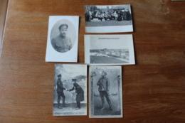 5 Cartes Photos   Camp De Cottbus  Dont Soldats Russes  Guerre 1914 1918 - Guerra 1914-18