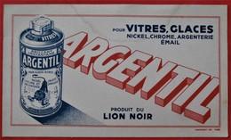 Ancien Buvard D'Ecole PUBLICITAIRE Argentil  LION NOIR  Paris Montrouge - Papel Secante