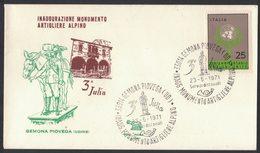 YN495   GEMONA PIOVEGA - INAUGURAZIONE MONUMENTO ARTIGLIERE ALPINO - 3^JULIA 23-5-1971 - Militaria