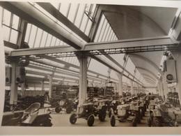 Photo 14,5cm/10cm Sur Une Usine De Tracteurs Anciens. - Foto
