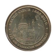 75010 - MEDAILLE TOURISTIQUE MONNAIE DE PARIS 75 - Sacré Coeur - 2010 - Monnaie De Paris