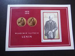 DDR Bloc Lénine Neuf - 100. Geburstag 1870-1970 - Blocks & Sheetlets
