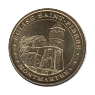 75018 - MEDAILLE TOURISTIQUE MONNAIE DE PARIS 75 - Eglise Saint Pierre - 2011 - Monnaie De Paris