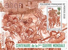 Frans-Polynesië / French Polynesia - Postfris / MNH - Sheet 1e Wereldoorlog 2018 - Frans-Polynesië