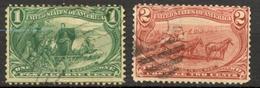 Etats Unis -1898 - Yt 129/130 - Expo Omaha - Oblitérés - Usados