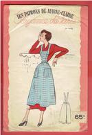 LES PATRONS DE MARIE CLAIRE VERS 1950 1960 TABLIER DE CUISINE POCHETTE COLORISEE AVEC SON CALQUE ELEGANCE DE PARIS - Patterns