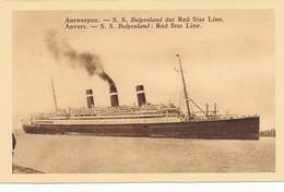 CPA - Belgique - Antwerpen - Anvers - S.S. Belgenland - Red Star Line - Antwerpen