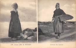 29-BEUZEC- JEUNE FILLE DE BEUZEC - RETOUR DU LAVOIR - Beuzec-Cap-Sizun