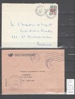 Lettre Ambulant Bureau Ambulant Des Pyrénées Et Direction Ambulant Ouest - 2 Piéces - Marcophilie (Lettres)