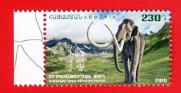 Armenien / Armenie / Armenia 2019, Fauna Of The Ancient World, Steppe Mammoth - MNH - Prehistorics