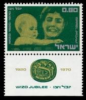 1970Israel489'' Wizo Jubilee 1920-1970'' - Nuevos (con Tab)