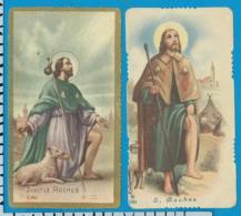 Holycard    St. Rochus    2 Pieces - Santini