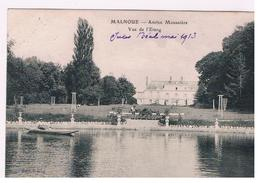 CPA MALNOUE Monastere Etang - France
