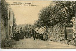 Querrien - Procession Sur La Rte De St Thurien - France