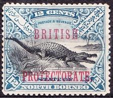 NORTH BORNEO 1901 12c Black & Dull-Blue SG135 MH - North Borneo (...-1963)