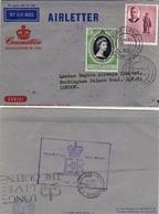 MAURICE MAURITIUS 223 240 (o) Lettre De L'ile Maurice Port Louis Vers Londres London Coronation Elizabeth II Juin 1953 - Mauritius (1968-...)