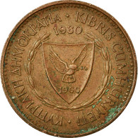 Monnaie, Chypre, 5 Mils, 1980, TB, Bronze, KM:39 - Chypre