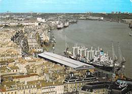 33] Gironde > BORDEAUX Le Port De Bordeaux Au Fond Le Pont D'Aquitaine  (bateau Ship)*PRIX FIXE - Bordeaux