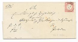 DR Brustschild Mi.19 EF Auf Brief M. K2 Nauen 1873 - Deutschland
