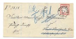 DR Brustschild Mi.19 EF Auf Brief M. K1 Magdeburg 1872 - Deutschland