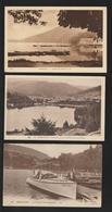 CPA - GERARDMER - 88. Vosges - Lot De 3 Cartes - LAC / CANOTS / PONTONS / PERSONNAGES  - 2 Scannes Face & Dos - Gerardmer
