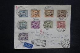 POLOGNE - Enveloppe En Recommandé De Gdansk En 1929 Pour Przemysl Par Avion , Affranchissement Plaisant - L 26347 - Lettres & Documents