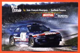 Carte Subaru Championnat De France Des Rallyes 2001 Jean François Mourgues Guilhem Zazurca - Voitures (Courses)