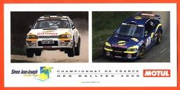 Carte Subaru Impreza WRC Championnat De France Des Rallyes 2000 Simon Saint Joseph Jack Boyère - Voitures (Courses)