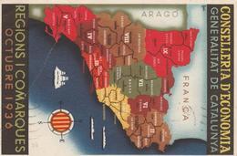 TARGETA POSTAL 1938 CONSELLERIA D ECONOMIA  OCTUBRE 1936   ELA 103 - 1931-Hoy: 2ª República - ... Juan Carlos I