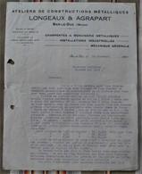 55 BAR LE DUC  Longeaux Agrapart CONSTRUCTIONS METALLIQUES - 1900 – 1949