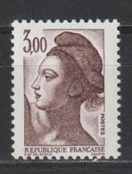 YT 2243a ** 3,00F Brun-violet Liberté, Sans BP, Papier Luminescent - Errors & Oddities