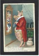 CPA Cochon Pig Position Humaine Humanisé Circulé - Cochons