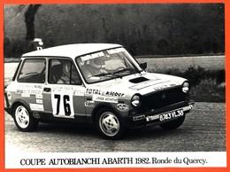 Photographie Oroginale Coupe Autobianchi Abarth 1982 Ronde Du Quercy- Rallye - Compétition - Otros