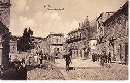 ITALIA - GROTTE (girgenti) - Piazza .............animata, Viag. 1909 - 2019-453 - Italia