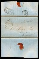 PERU. 1845 (30 Jan). Lima - UK (12 May). Via Liverpool. EL Ship Lanercost / Box Shipletter + Arrival Mns Charge. - Peru