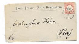 DR Brustschild Mi.19 EF Auf Brief M. K1 Stadt Königshütte 1874 - Deutschland
