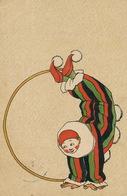 Art Card Young Acrobate . Clown . Pierrot . Circus . Cirque .   Used Manheim To Hericourt 70 Dondorf No 285 - Cirque