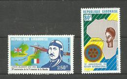 Gabon Poste Aérienne N°222, 224 Neufs** Cote 4.10 Euros - Gabón (1960-...)