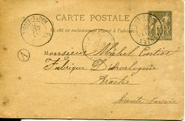 13154 - Hte Savoie - CLUSES / ARACHES  : Entier Postal De 1890 à Michel CARTIER Horloger à Araches(rare)   Circulée 1890 - Cluses