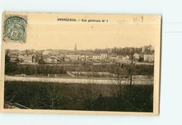ANDREZIEUX - Vue Générale N°1 1910 - Carte Photo -  2 Scans - Andrézieux-Bouthéon