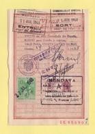 Espagne - Fiscaux - Visas Passeport - 1948 - Hendaye - Hendaya - Fiscales