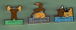 L'EMMENTAL *** Lot De 3 Pin's Differents *** 0012 - Alimentazione
